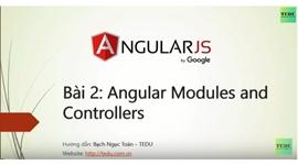 AngularJS căn bản - Bài 2 Giới thiệu về modules và controllers