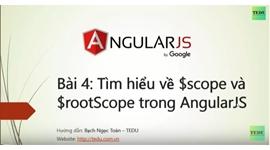 AngularJS căn bản - Bài 4 Biến scope và rootScope