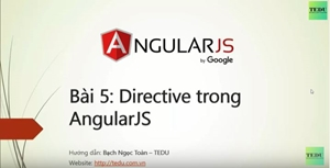 AngularJS căn bản - Bài 5: Tìm hiểu Directive